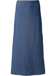Crippen Long Denim Skirt