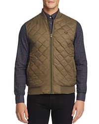 Fred Perry Quilted Vest Dark Olive