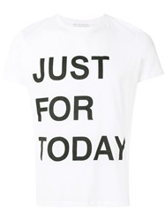 Ermanno Scervino Just For Today T Shirt White