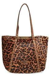 Patricia Nash 'Benvenuto' Genuine Calf Hair And Leather Tote Leopard Rust