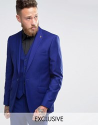 Farah Bright Millbank Twill Suit Jacket Blue