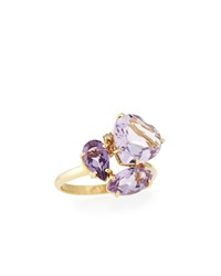 Vianna B.R.A.S.I.L Pink Amethyst Cluster Ring Size 7