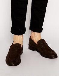 Base London Balfour Suede Loafers Brown