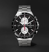 Baume And Mercier Clifton Club Indian Legend Tribute Chief Chronograph 44Mm Stainless Steel Watch Black