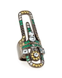 M.C.L. Design By Matthew Campbell Valhalla Abstract Mixed Stone Ring