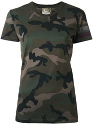 Valentino Camouflage T Shirt Brown