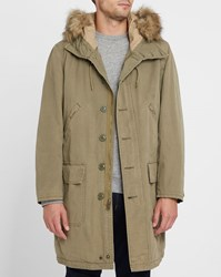 Denim And Supply Ralph Lauren Khaki Cotton Military Parka