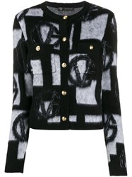 Versace Knitted Vg Cardigan Black