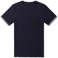 Lanvin Contrast Pocket Tee Blue