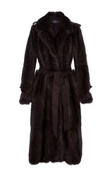 J. Mendel Sable Trench Coat Brown