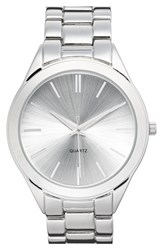 Junior Women's Bp. 'Boyfriend' Bracelet Watch 42Mm Silver