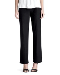 Eileen Fisher Washable Crepe Straight Leg Pants Petite Black