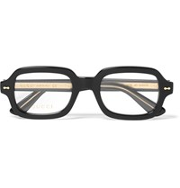 Gucci Square Frame Acetate Optical Glasses Black