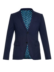 Gucci Notch Lapel Single Breasted Blazer