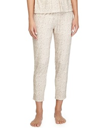 Eberjey Floral Garland Cropped Lounge Pants Tapenade