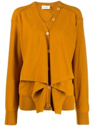 Christophe Lemaire Layered Button Embellished Jumper Yellow