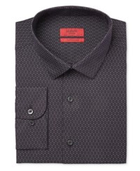 Alfani Red Men's Extra Slim Fit Black Star Dress Shirt Only At Macy's