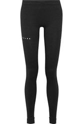 Falke Ergonomic Sport System Textured Stretch Jersey Leggings Black