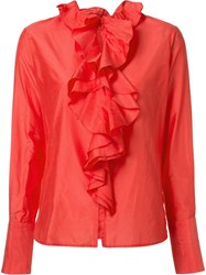 Tome Ruffled Blouse Red