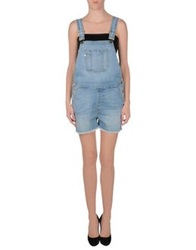 Frame Denim Short Overalls Blue