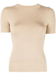 Joostricot Lurex Knitted Top Gold