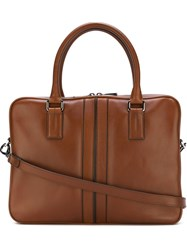 Tod's Single Zip Briefcase Brown