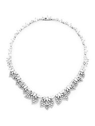 Adriana Orsini Crystal Statement Necklace Silver