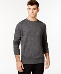 Sean John Tech Knit T Shirt Black Heather