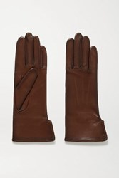 Agnelle Fanny Leather Gloves Chocolate
