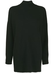 Pringle Of Scotland Roll Neck Cozy Jumper Black