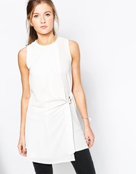 Wal G Shift Dress With D Ring White