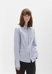 Martine Rose Darted Stripe Shirt Blue White Stripe
