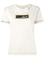 J.W.Anderson Shark Applique T Shirt Nude And Neutrals