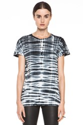Proenza Schouler Tie Dye Baggy Cotton Tee In Black Ombre And Tie Dye
