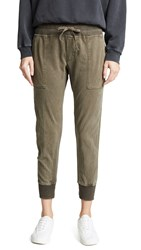 James Perse Contrast Sweatpants Army Green