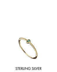 Asos Gold Plated Sterling Silver December Birthstone Ring