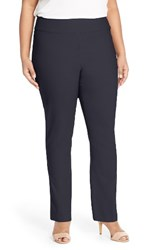 Nic Zoe Plus Size Women's 'Wonder Stretch' Straight Leg Pants Midnight