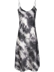 Nili Lotan Slim Fit Tie Dye Print Silk Dress 60