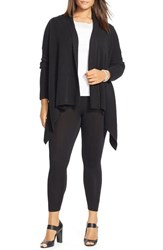 Plus Size Women's Lauren Ralph Lauren Cotton Rib Shawl Collar Cardigan Black