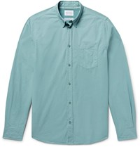 Norse Projects Anton Slim Fit Garment Dyed Cotton Poplin Shirt Gray Green