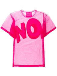 Viktor And Rolf The Bigger No Oversized T Shirt Pink