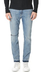 Ovadia And Sons Os 1 Distressed Jeans Light Wash Indigo