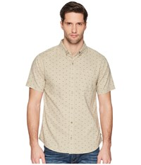 United By Blue Mountain Print Button Down Tan Clothing