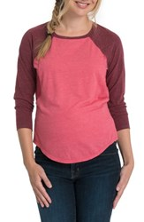 Bun Maternity Relax Raglan Sleeve Nursing Top Soft Red