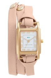 La Mer Collections 'Milwood' Leather Wrap Watch 35Mm