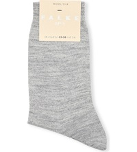 Falke No3 Wool Silk Socks 3388 Light Grey Mel
