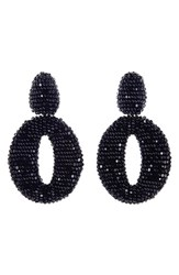Oscar De La Renta Women's Beaded Frontal Hoop Earrings