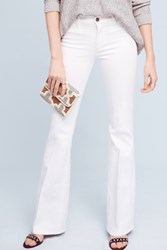 Anthropologie Mih Marrakesh Mid Rise Slim Flare Jeans White