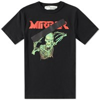 Off White Skull Mirror Tee Black