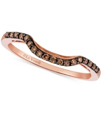 Le Vian Chocolatier Chocolate Diamond 1 6 Ct. T.W. Curved Ring In 14K Rose Gold No Color